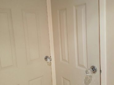 White Wooden Doors, The Door Hanger